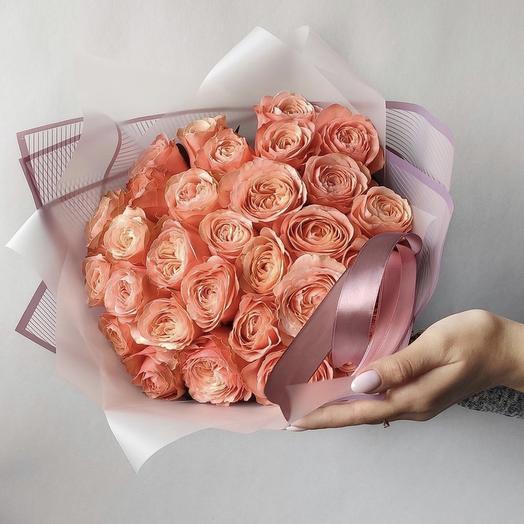 Персиковые рай: букеты цветов на заказ Flowwow