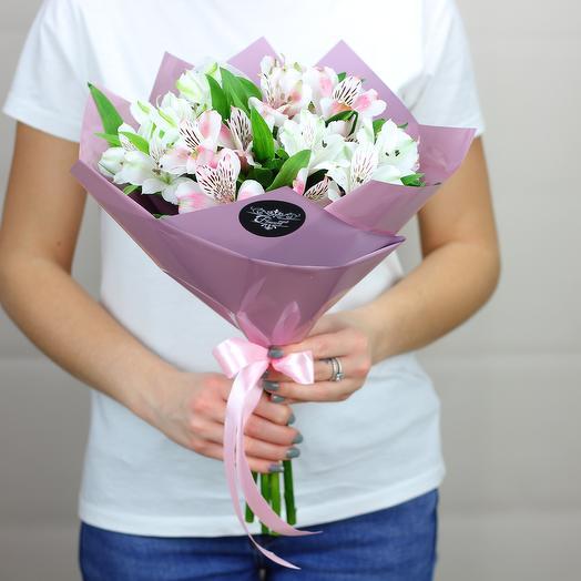 5 альстромерий микс: букеты цветов на заказ Flowwow