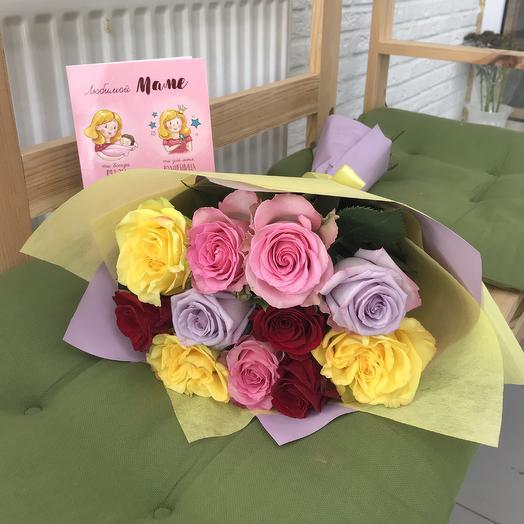 Яркий букет для мамы: букеты цветов на заказ Flowwow