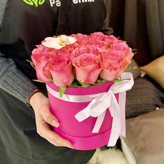 """Композиция в коробке """"Нежность"""": букеты цветов на заказ Flowwow"""