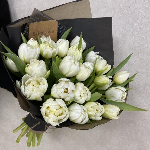 Тюльпанчики пионовидные: букеты цветов на заказ Flowwow
