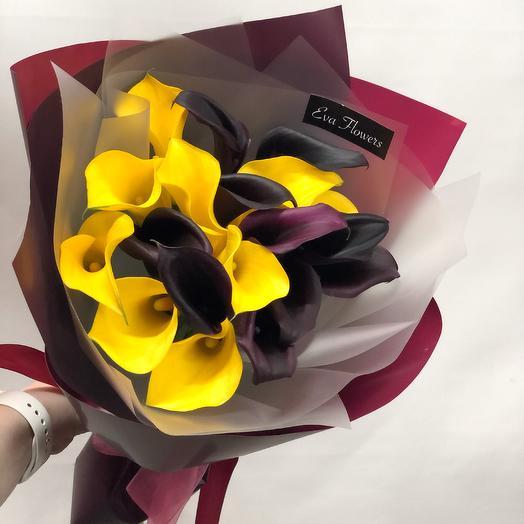 Каллы Женского счастья: букеты цветов на заказ Flowwow