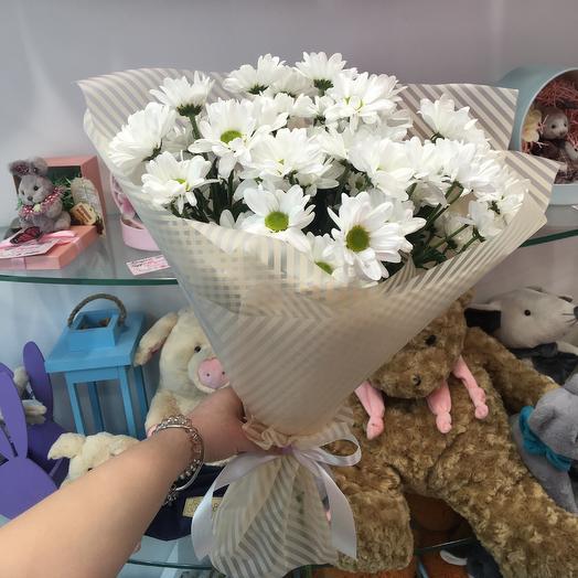 5 кустовых хризантем: букеты цветов на заказ Flowwow