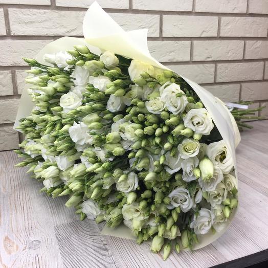 49 белых эустом: букеты цветов на заказ Flowwow