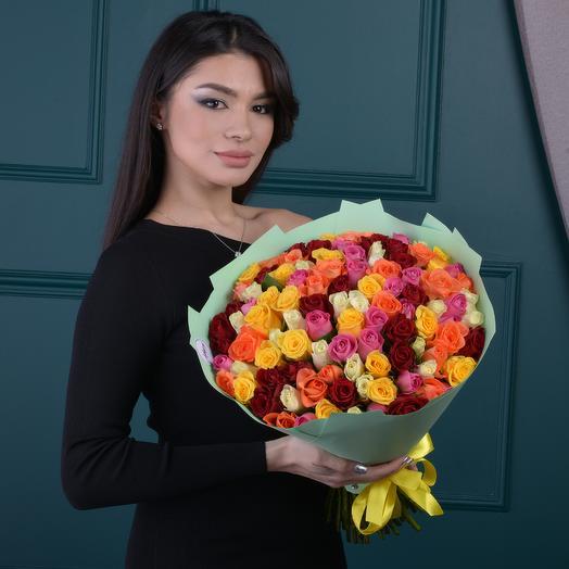 Букет Микс из 101 Розы: букеты цветов на заказ Flowwow