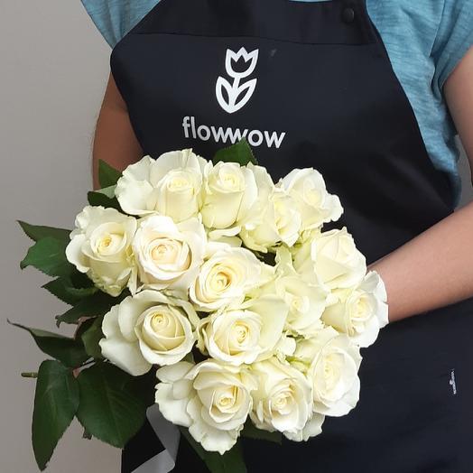 Белая роза, 15 шт