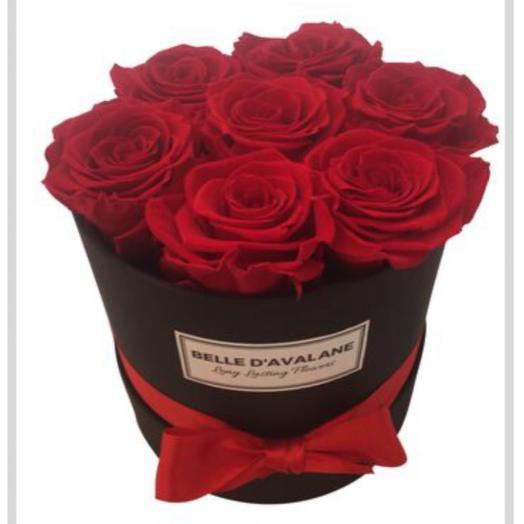 Flowerbox 7 red roses