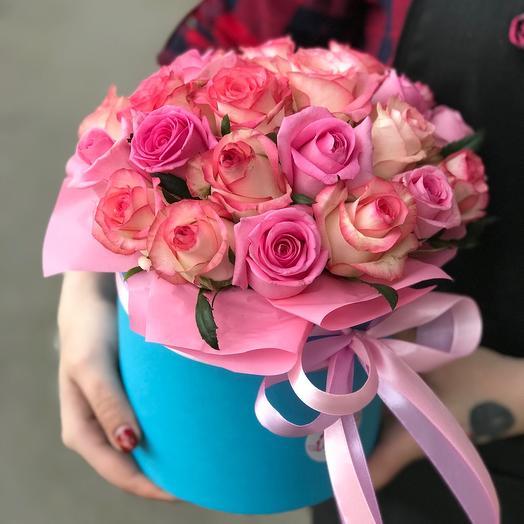 Коробочка с розами 25шт