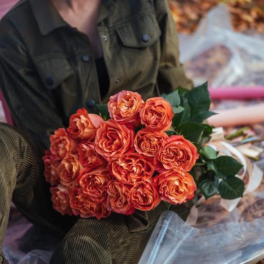 Букет из семнадцати Эквадорских роз Кантри Хоум