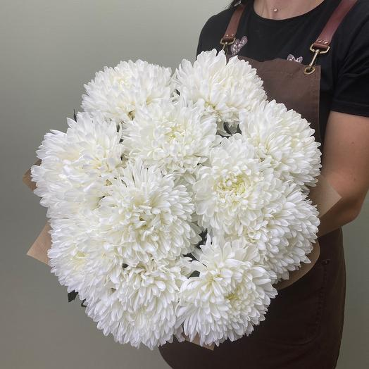 Bouquet of 11 single-headed chrysanthemums
