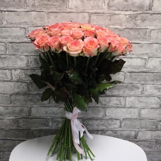 51 розовая роза  Премиум