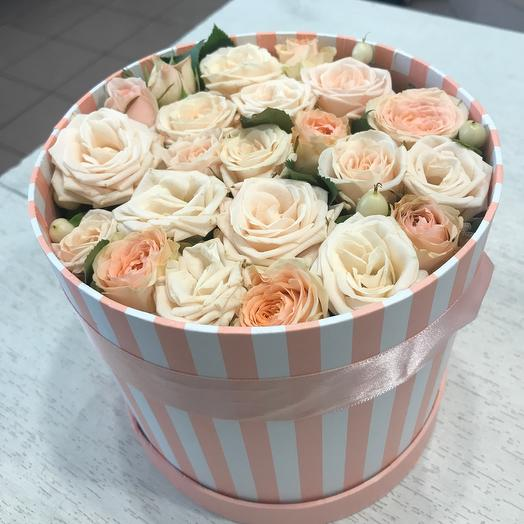 Цветы в коробке сюрприз