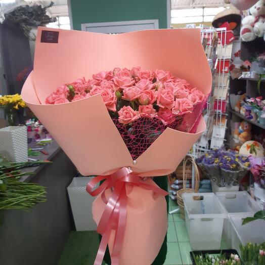 Bouquet of bush roses