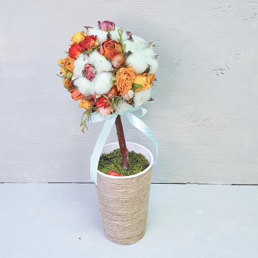 "Топиарий из сухоцветов ""Spring"""