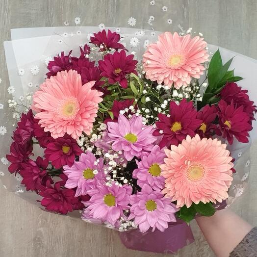 Chrysanthemums gerberas