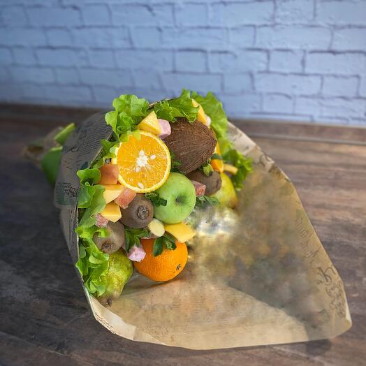 Фруктово-закусочный букет