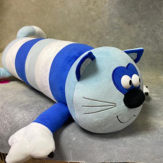 Мягкая игрушка «Кот-Батон», цвет голубой, 56 см