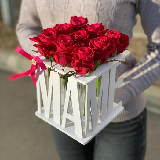 9 роз «Маме»