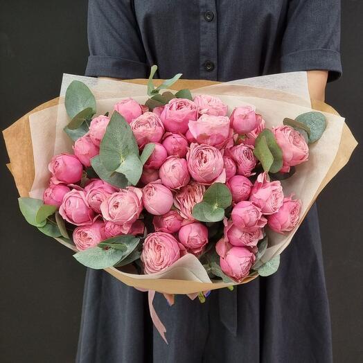 Букет кустовой розы Sylva Pink