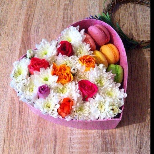 Хризантема роза макаруны!: букеты цветов на заказ Flowwow