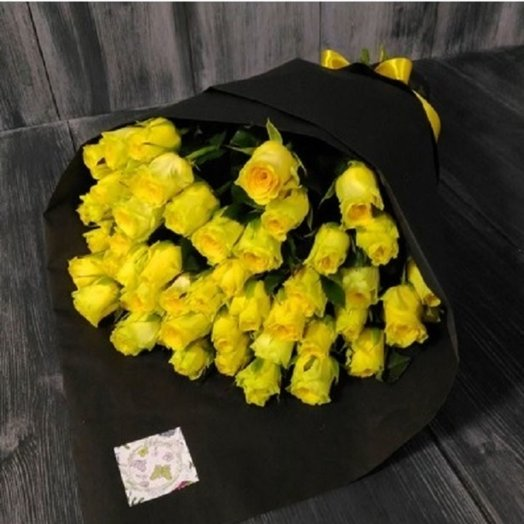 "Букет желтых роз ""Изысканный"""