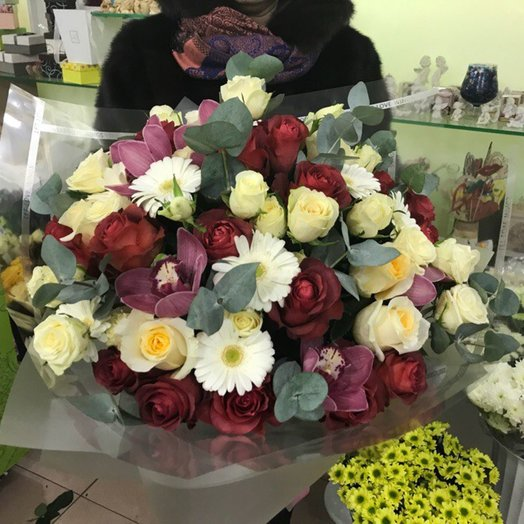 Букет розы, доставка цветов заводоуковск