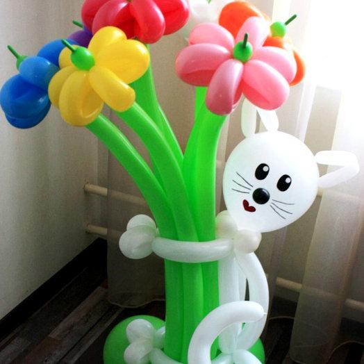 Букет ромашек с котиком: букеты цветов на заказ Flowwow