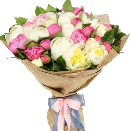 """Букет из 39 пионов """"Шелковый путь"""": букеты цветов на заказ Flowwow"""