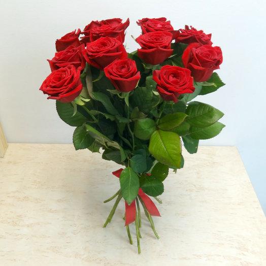 11 красных роз 60 см: букеты цветов на заказ Flowwow
