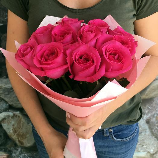 11 роз Pink Floyd: букеты цветов на заказ Flowwow