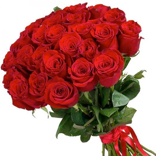 Букет из 25 голландских красных роз: букеты цветов на заказ Flowwow