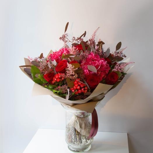 Малиновый пунш: букеты цветов на заказ Flowwow