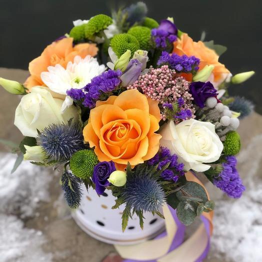 """Коробочка """"Нежные краски зимы"""": букеты цветов на заказ Flowwow"""