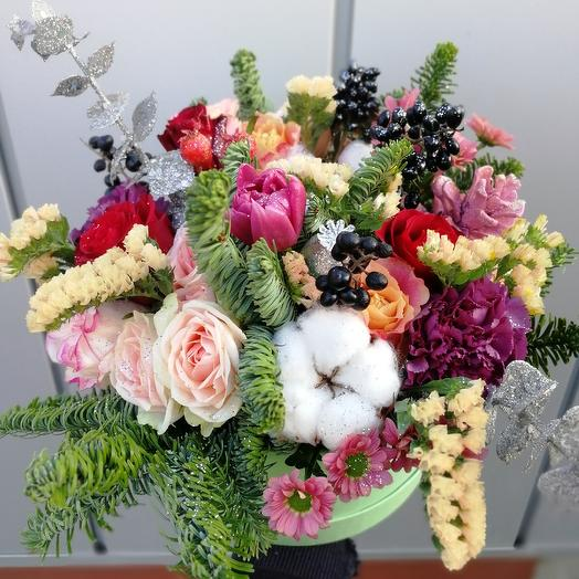 Зимний привет: букеты цветов на заказ Flowwow