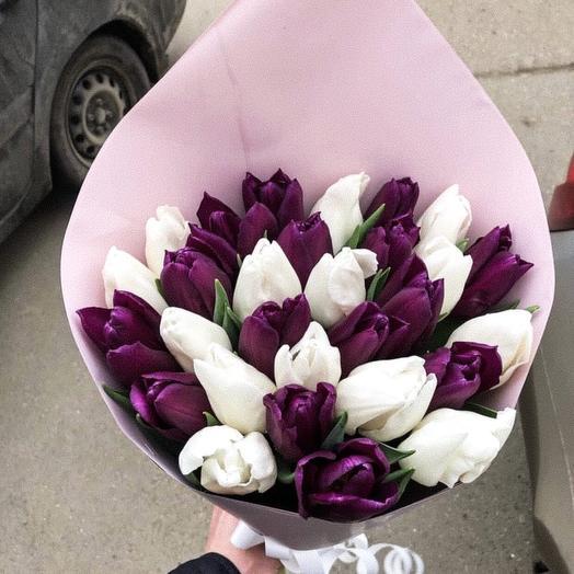 Ангел и демон (T): букеты цветов на заказ Flowwow