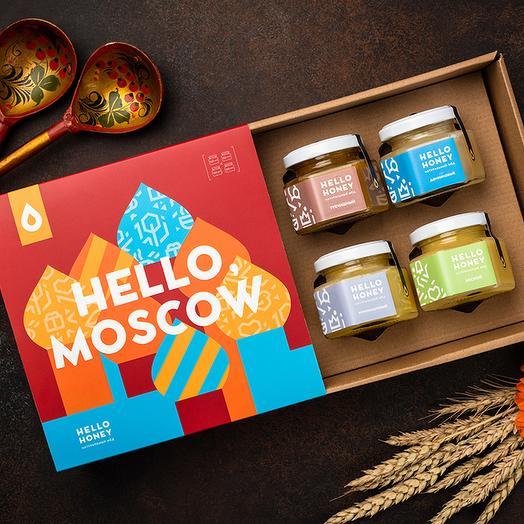 Подарочный набор мёда «Hello, Moscow»: букеты цветов на заказ Flowwow