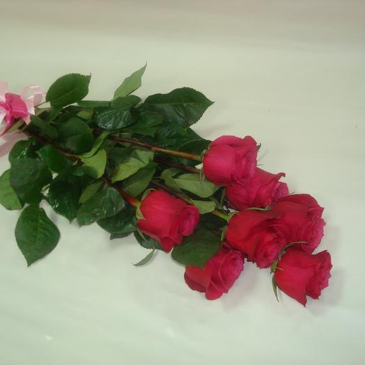 7 роз Ред Наоми: букеты цветов на заказ Flowwow