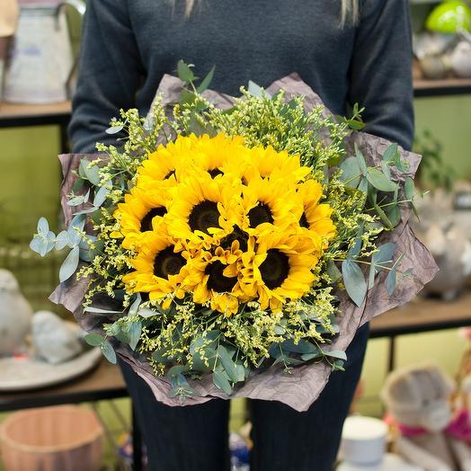 """Букет цветов """"Солнечный"""": букеты цветов на заказ Flowwow"""