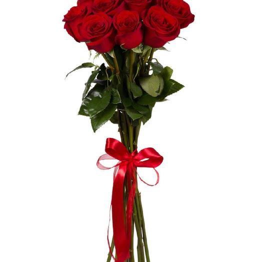 11 роз Эквадор 60 см: букеты цветов на заказ Flowwow