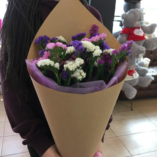 Букет из статицы: букеты цветов на заказ Flowwow