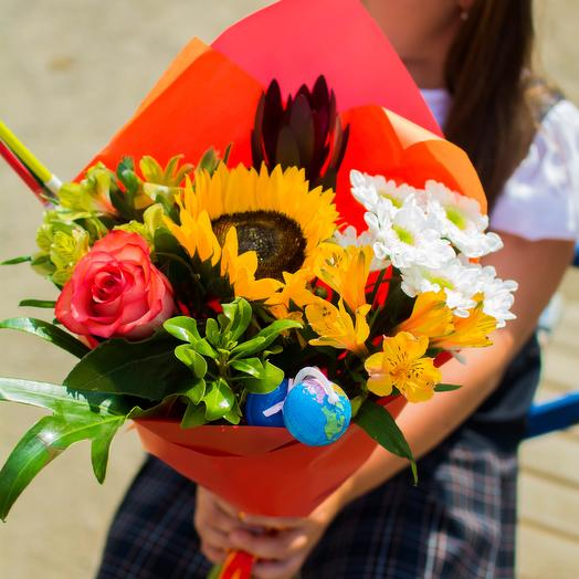 Школьная линейка: букеты цветов на заказ Flowwow