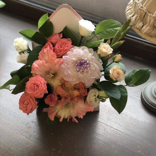 "Коробка цветов для мамы ""Солнце моё"""