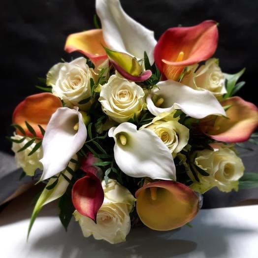 Мини-букет из калл: букеты цветов на заказ Flowwow
