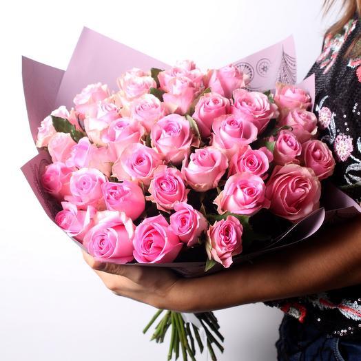 Букет 3 из розовой розы: букеты цветов на заказ Flowwow
