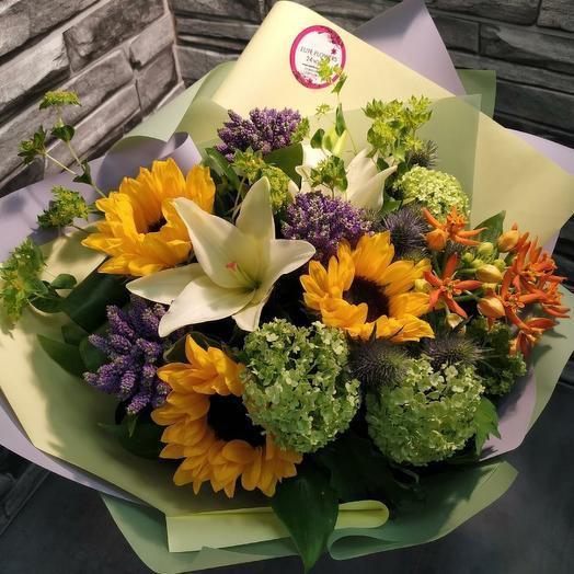 "Букет ""Осенний блюз"": букеты цветов на заказ Flowwow"