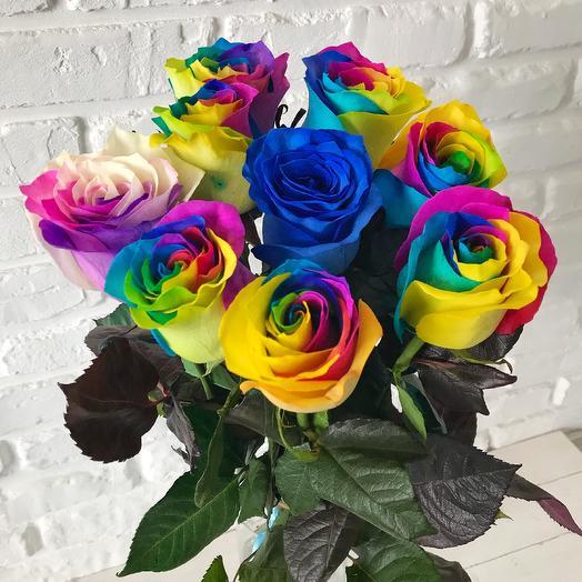 Букет микс 9 роз