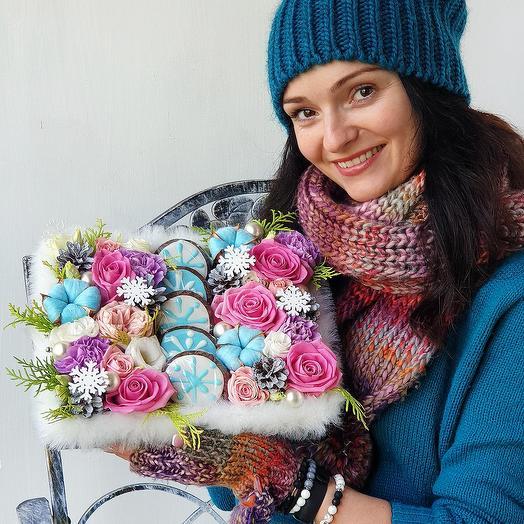 Композиция Перед рождеством: букеты цветов на заказ Flowwow