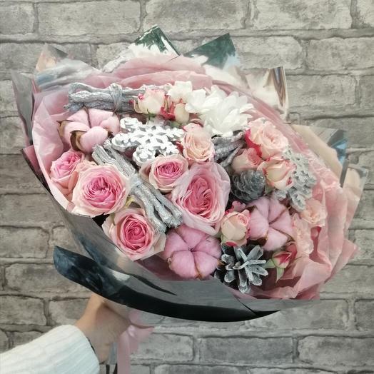 "Букет ""зимнее утро"": букеты цветов на заказ Flowwow"
