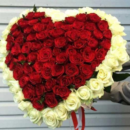 Букет 101 роза сердце ️: букеты цветов на заказ Flowwow