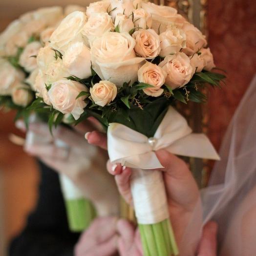 """Свадебный букет """"Классика"""": букеты цветов на заказ Flowwow"""
